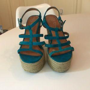 Jeffery Campbell Platform Turquoise Heels Sz:8.5